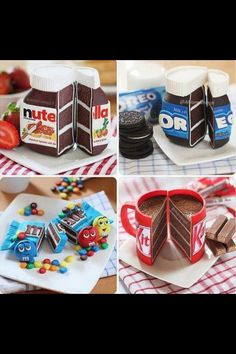 oreo nutella kit kat cakes. candy cakes