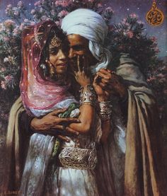 Nasreddine Dinet [Étienne Dinet] 1861-1929 - French Orientalist painter.