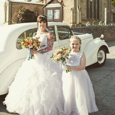 My beautiful daughter stood by my side outside St Lawrence church Whitwell