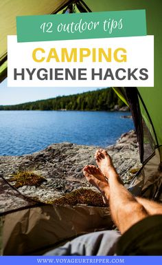 12 Camping Hygiene Hacks: How to Stay Clean While Camping. I camping tips I camping hacks I outdoor tips I tips for camping I hygiene tips for camping I outdoor adventure tips I #camping #outdoortips Camping Set Up, Canoe Camping, Camping 101, Camping Packing, Canoe Trip, Camping Outfits, Camping Checklist, Best Places To Camp, Hiking Tips