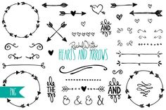 Check out Hearts & Arrows Clip Art by rachelwhiteart on Creative Market