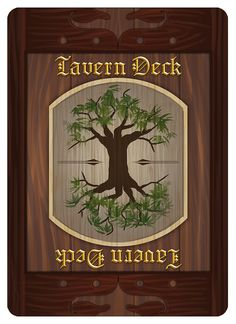 Tavern deck back design from Tavern Masters fantasy card game by Dann Kriss. Art by Galen Ihlenfeldt. Dann Kriss Games LLC ® All Rights Reserved Card Games, Masters, Deck, Fantasy, Artwork, Cards, Design, Master's Degree, Work Of Art