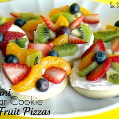 Mini Sugar Cookie Fruit Pizza