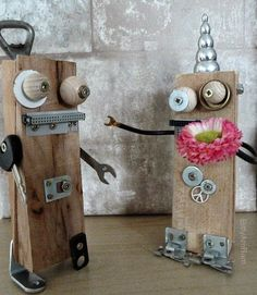 BittyAmbam: Roboter - DIY - Creadienstag - Upcycling