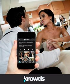 So many guests will take videos at your wedding - but will you ever see them? Probably not – unless you use Krowds! Invite guests to your wedding's private Krowd, and they can upload and share their video memories. #weddingapp #weddingvideo #app #iphone #android #free #wedding