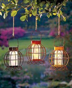 Rustic Solar Garden Lanterns