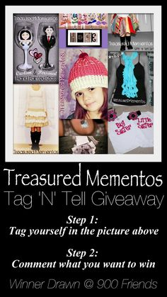 GIVEAWAY!!!! :) ...Facebook: Treasured Mementos :0)
