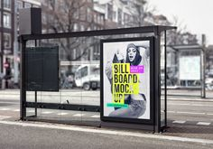 The freebie of the day is a bus stop billboard mock-up to help you create a presentation for your advertising campaign projects. To have your artwork displayed on the billboard, just place it inside the smart object and you'll be done in no time. Billboard Mockup, Billboard Signs, Artwork Display, Branding, Bus Stop, New Poster, Logo Design, Graphic Design, Badge Design