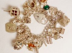Vintage Sterling Silver Charm Bracelet by SerenityHillCharms