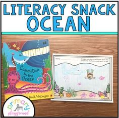 Literacy Snack Idea Ocean by Primary Playground | TpT