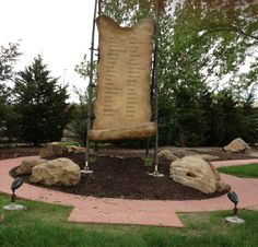 """A memorial to the 38 Dakota men hanged near this spot in Mankato, MN, on December 26, 1862. They had been found guilty of crimes against civilians. Sarah's protector, Chaska, was one of them, though she testified (the only eyewitness) that he'd not killed George Gleason. The authorities later claimed he'd been hanged """"by accident."""""""