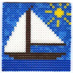 Sail Boat hama perler beads by AnnaMart