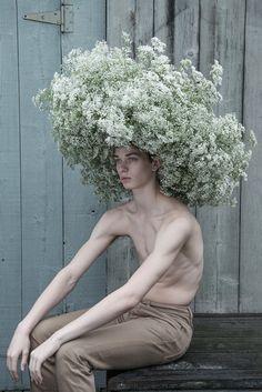 """ Model: dancer Joshua Guillemot-Rodgerson Headpiece Design: Anthony Brownie """