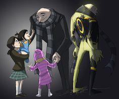 [link] Despicable Me(c)Universal Studios Tron(c)Disney Art/comic/oc(c)Mad. ITI- The tragedy of Gru Despicable Me Gru, Minion, Pokemon Alola, Kung Fu Panda, Fandoms Unite, Futuristic Cars, Cool Art Drawings, Disney Fan Art, Pixar