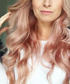 Love my new Rose Gold Hair // @AmandaAdamsFit // SCULPTED EDGE, Nashville, TN #rosegoldhair #roseblonde                                                                                                                                                                                 More