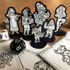 DnD printable resources and custom RPG character portrait commissions. Characters sheet booklets, minis, initiative trackers and gifts. Board Game Pieces, Board Games, Tabletop Rpg, Tabletop Games, Dnd Mini, Dnd Character Sheet, Board Game Design, Dnd Art, Dungeons And Dragons Homebrew