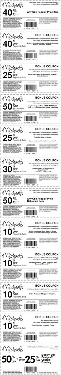 MICHAELS: 40% off a single item and more at Michaels crafts coupon via The Coupons App