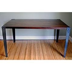 $397.99 Sheesham Wood Metal Legs Dining Table (India)