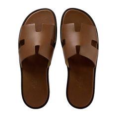 9d3935e3d529d Hermes Men Sandals Izmir Veau Leather Gold Color 42 Size 2017