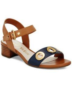 Anne Klein Ellamae Block-Heel Sandals   macys.com
