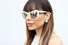 White Prism London Mirror Sunglasses / stilettobeats.com