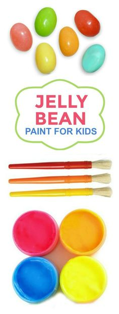 FUN KID PROJECT:  Make paint from jelly beans!  What a great way to use some of that Easter candy.