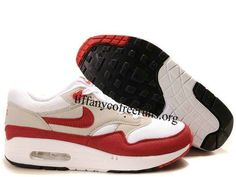 half off 233a6 11be8 Mens Nike Air Max 1 White Sport Red Neutral Grey Black Shoes   h52.99