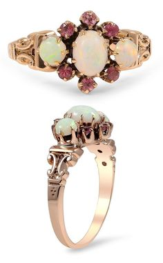 Lovely ring with opal