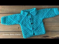 Casaquinho/casaco de Croche para bebe 0 a 4 meses - Hexagonal super facil Crochet Bebe, Crochet Cardigan, Knitting, Youtube, Sweaters, Kids, Crafts, Crochet Baby Girls, Crochet Boys
