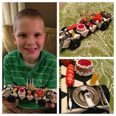 Pinewood Derby Dinner Party car- it won the Best in Pack award!