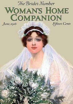 Vintage Bride ~ Woman's Home Companion, June 1916