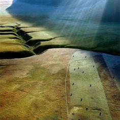 Shafts of light on the plain..  © Edmondo