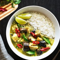 Thai Green Curry: Creamy & packed with so much flavor from a homemade paste. Find out how to change the heat without losing green.