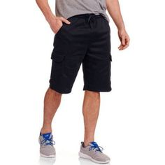 Big Men's Fleece Cargo Short, Size: 4XL, Black