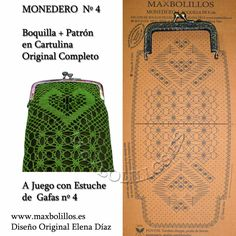PICADO + BOQUILLA                                                       … Canadian Smocking, Romanian Lace, Bobbin Lacemaking, Bobbin Lace Patterns, Lace Jewelry, Lace Outfit, Craft Bags, Needle Lace, Lace Making