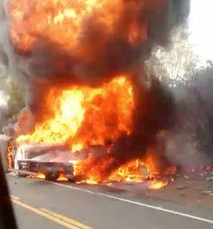 TRAGÉDIA NO PIAUÍ: ÔNIBUS de passageiros colide com caminhão de combustível e ambos explodem, pode ser grande o número de mortos