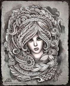Zodiac ~ Scorpio by Olka Kostenko on Behance