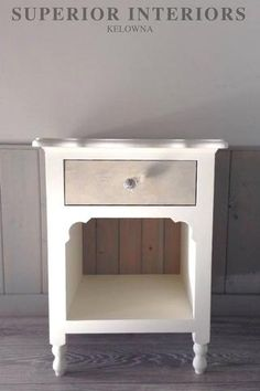 Solid wood nightstand stained with Greystokes Solid Wood Furniture, Custom Furniture, Wood Nightstand, Diy Shops, Painting Cabinets, End Tables, Interiors, Ivory, Design