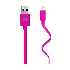 PURE.GEAR CABLE USB FLAT DE CARGA Y SINCRONIZACION IPHONE 5/6 ROSA