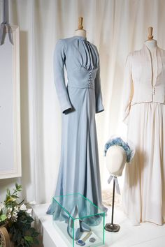 Wallis Simpson's wedding gown when she wed King Edward who abdicated the throne of England for her. She became the Duchess of Windsor but was denied the HRH status