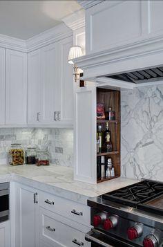 Kitchen Storage Ideas. Kitchen Spice Cabinet Ideas. Jane Kelly, Kitchen and Bath Designer.