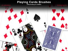 Playing Card Photoshop and GIMP Brushes by redheadstock.deviantart.com on @DeviantArt