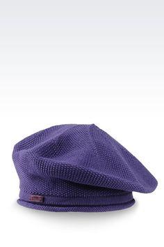Armani Collezioni Women Hat - KNIT BERET WITH LOGO Armani Collezioni Official Online Store