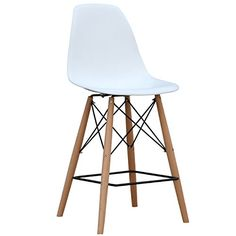 Special Offers - ModHaus Mid Century Modern Eames DSW Style Bar Stool Chair with Dowel Wood Eiffel Base - In stock & Free Shipping. You can save more money! Check It (April 30 2016 at 10:11PM) >> http://counterstoolsusa.net/modhaus-mid-century-modern-eames-dsw-style-bar-stool-chair-with-dowel-wood-eiffel-base/