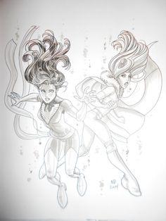 Nick Bradshaw - Jean Grey - Phoenix & Emma Frost - White Queen Comic Art