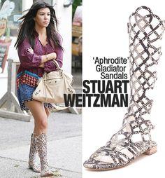 Kourtney Kardashian wears Stuart Weitzman in the Hamptons
