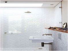 awesome Fresh White Tiled Bathrooms Images