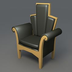 art deco furniture bar 3d model - Art Deco Furniture... by Thaumaturgy