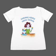 Chronię dzieci przed cukrem (M) - koszulka damska w Matka Po Godzinach na DaWanda.com