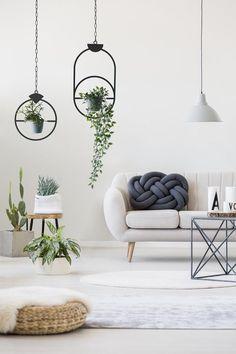 Plant Hanger Black Hanging Decor Bohemian Home Décor Metal   Etsy